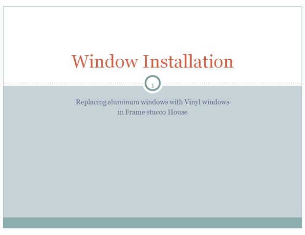 *Video:window installion