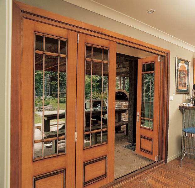 Patio door folding custom fiberglass for Custom patio doors
