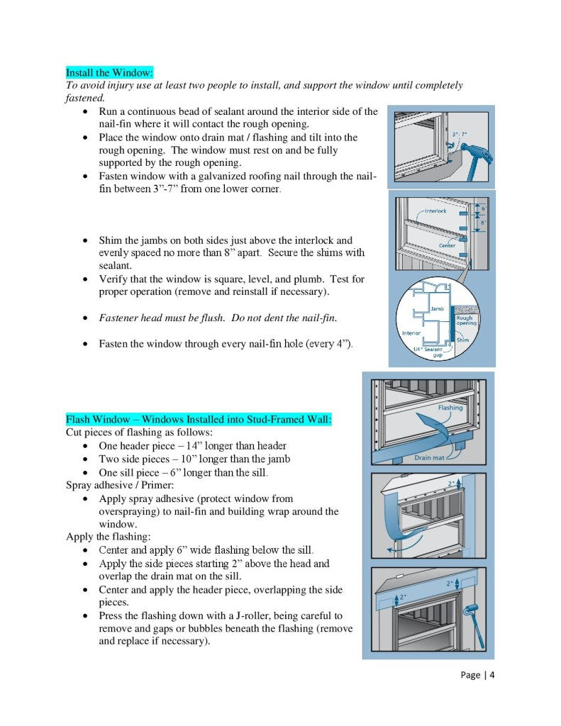 How To Install Windows by Glass-Rite - Nail Fin-page-004