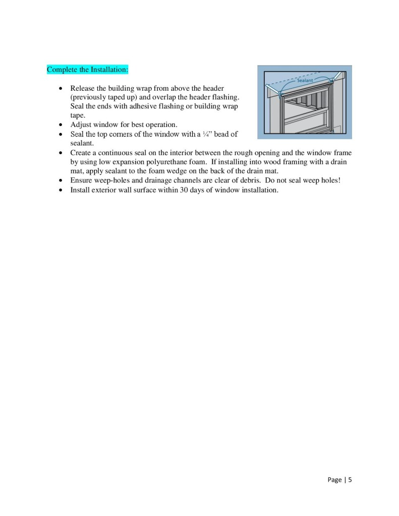 How To Install Windows by Glass-Rite - Nail Fin-page-005