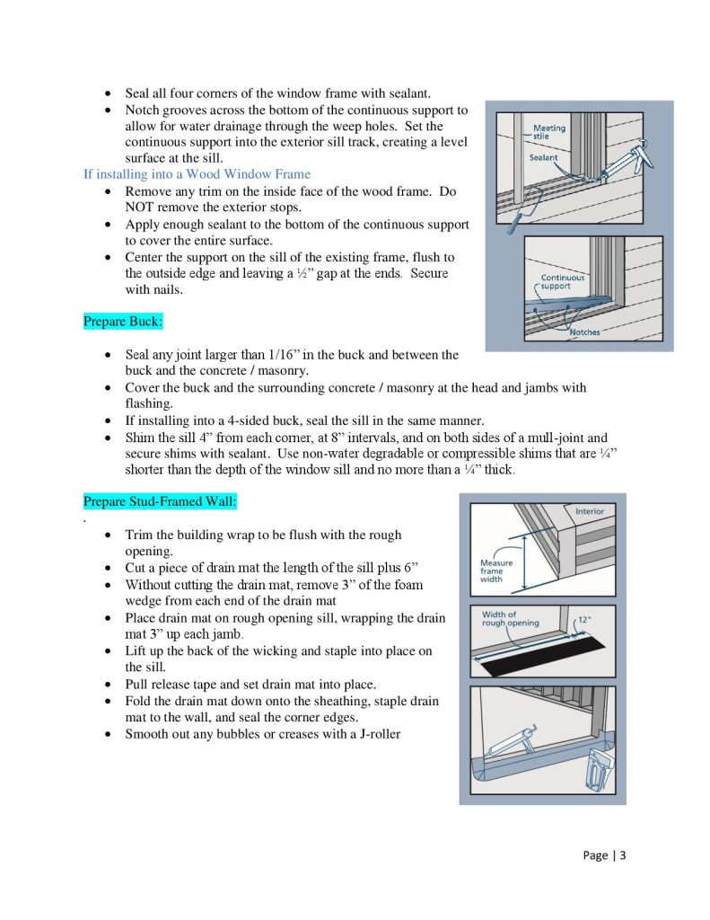 How To Install Windows by Glass-Rite- No Fin or Flush Fin-page-003