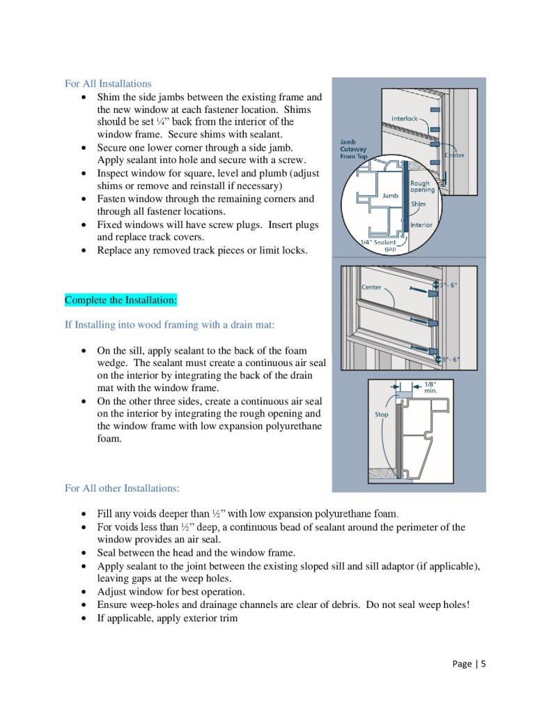 How To Install Windows by Glass-Rite- No Fin or Flush Fin-page-005
